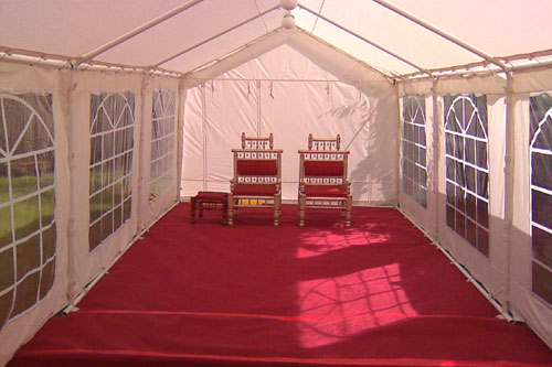 3 x 8 Marquee with Red Carpet