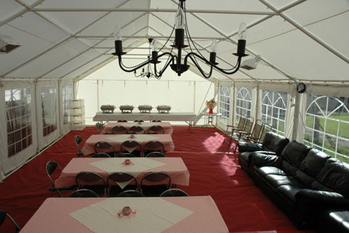 6 x 12 Marquee with Chandeliers